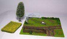 Modellbau-Gelände 1/87: 015067 Geländestück Feld mit Weide u. Kuh (Fertigmodell)