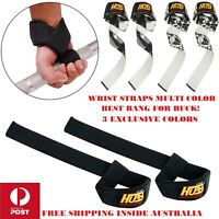 WEIGHT LIFTING BAR STRAPS FITNESS CROSSFIT EXERCISE GYM BODYBUILDING STRAP WRAPS