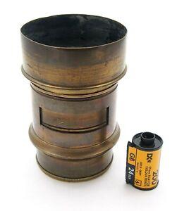 Vintage 6.5 inch F2.9 Brass Petzval Portrait Lens - UK Dealer