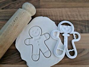 Gingerbread Man Cookie Cutter Cake Fondant 3D Printed