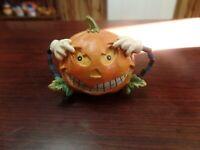 Hand Painted Ceramic Pumpkin Figurine #1723