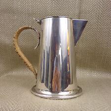 Vintage Milk Jug Art Deco Bauhaus Style Silver Plated Cane Handle 1 Pint Vtg