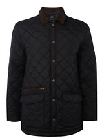 Howick Quilted Black Jacket Pembroke quilted MENS UK S *REF132