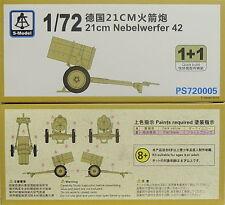 21cm nebelwerfer, 1/72, s-model, doble pack, plastk, nuevo,