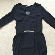 ZARA Donna-Little Black Dress/Tunica-può anche indossare sopra i jeans (Taglia M)