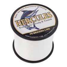 1000M 1094Yds Hercules White Braided Fishing Line PE 4 Strands Spinner 30LB Test