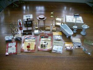 Dollhouse Furniture & Accessories Shackman Darice Fibre Craft Lot Vintage