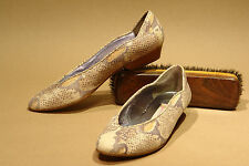 PHYLLIS POLAND / ITALY / CLASSIC PUMP IN NAT PYTHON PRINT / 7.5 AA / EXCELLENT