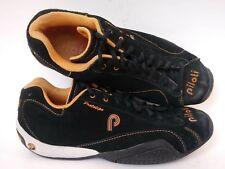 Piloti Prototipo Driving Shoes Men's Size 7.5 Suede Leather Black Orange Lace Up
