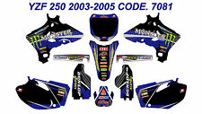 7081 YAMAHA YZF250 YZF450 2003 2004 2005 DECALS STICKERS GRAPHICS KIT