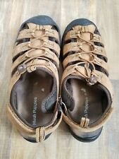 Hush Puppies Bumper Mens Beige Leather Closed Toe Sandals Size UK7/ EU40
