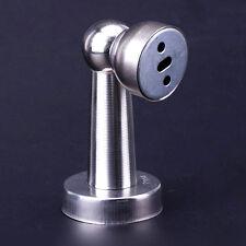 HOT Stainless Steel Magnetic Door Stopper Doorstop Stop Catch Screws Silver Set