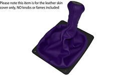 PURPLE LEATHER SKIN MANUAL GEAR BOOT COVER FITS PORSCHE 924 944 968