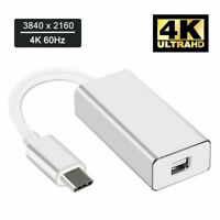 4K Type USB C to Mini DisplayPort Cable Adapter Converter 3 to DP for MacBook