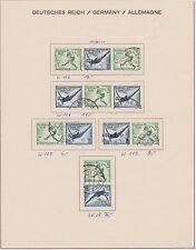 Briefmarken-Zusammendrucke aus dem deutschen Reich mit Olympische Spiele