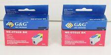 Lot 2 G&G Black Ink for Epson Stylus Photo 810 820 830 830U 925 935 C50 Expired