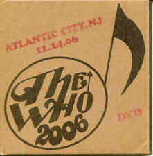 DVD - The Who - Atlantic City, NJ 11-24-06