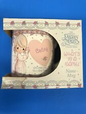 "Precious Moments Mug Cathy ""What's in a name� Nib Vintage"