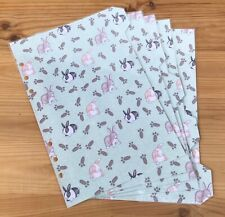 A5 Filofax Organiser Dividers With Cute Bunny Rabbits Design  - Fully Laminated