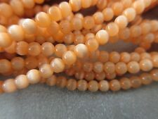 Light Orange Cat's Eye Round 4mm Beads 105pcs