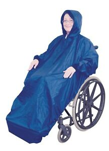 Fleece Lined Wheelchair Mac with Sleeves - Wheelchair Clothing - Rain Cover