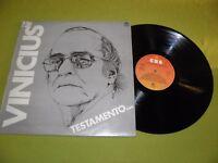Vinicius De Moraes - Testamento - Brazil Samba Bossa / Toquinho, Marilia Medalha