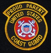 """UNITED STATES COAST GUARD   """"Proud Parent"""" Patch 3"""" x 3.5""""  Patch"""