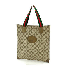 34c7e5b96c4 Gucci Tote bag GG Plus Beige Brown Woman Authentic Used S256