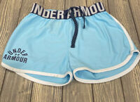 Under Armour Girls Blue Athletic Running Shorts Size Small Youth Loose