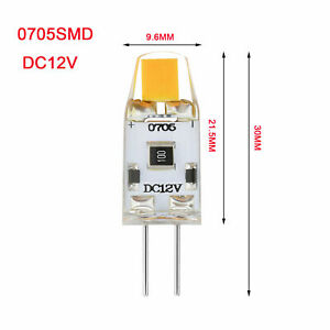 G4 LED Lamp Bulb DC12V COB 3W Silicone Capsule Cool or Warm Replace Halogen