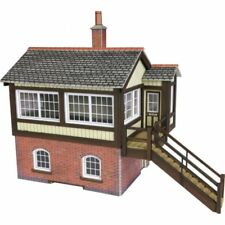 METCALFE PO330 OO SCALE GWR SIGNAL BOX CARD KIT RED BRICK OR STONE