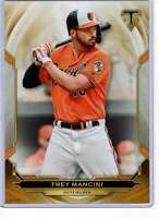 Trey Mancini 2019 Topps Triple Threads 5x7 Gold #44 /10 Orioles