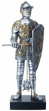 """FRENCH KNIGHT with AXE Statuette, 12.75"""" Tall, Hand-Painted, by Summit"""