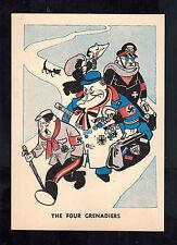 Mint WW2 England Anti Nazi Propaganda Postcard the Four Grenadiers German Leader