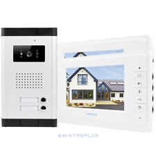 HOMSECUR 7inch Video Intercom with IR Camera & Electric Lock Release for 2Flats