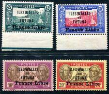 WALLIS ET FUTUNA 1941 Yvert 105,108,123,124 * SPITZENWERTE geprüft 415€(S3762