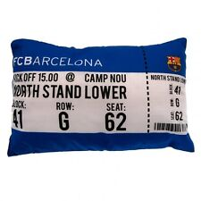 BARCELONA MATCH DAY FOOTBALL CLUB CUSHION PILLOW KIDS BOYS FAN BLUE BEDROOM GIFT
