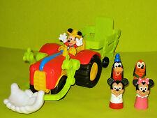 Occasion Tracteur Disney Mickey + 4 Marionettes à doigts Minnie/Pluto/Dingo