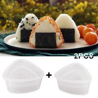 2Pcs Onigiri Rice Ball Bento Press Triangular Form Sushi Mould Maker DIY Tool