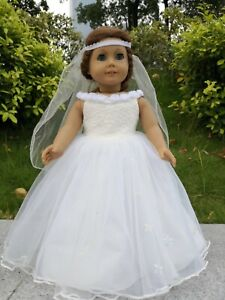 """Cinderella dress inspired by Disney's movie for American girl 18"""" Doll Dress"""