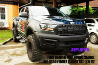 K OFF-ROAD FENDER FLARES WHEEL ARCH FOR FORD RANGER MK2 PX WILDTRAK 2015 2016