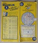 carte MICHELIN 61 PARIS - CHAUMONT 1958