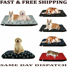 DOG BED LARGE & MEDIUM SIZE REMOVABLE ZIPPED COVER WASHABLE BED CUSHION COVERS
