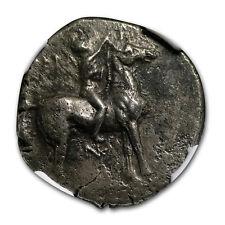 Calabria Taras AR Didrachm Taras on Dolphin (281-240 BC)CH XF NGC