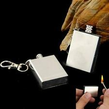 Stainless Steel Permanent Matches Outdoor Camping Hiking Fire Starter Keychain