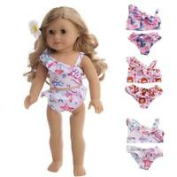 Cute Doll Dress Clothes Suitable Swimsuit For 18 Inch 43cm Set-Pr Doll Girl B8C0