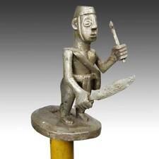 VINTAGE WOODEN LINGUIST'S ORATOR'S STAFF HUNTER ASHANTI GHANA WEST AFRICA