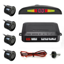 Black LED Display Car 4 Parking Sensor Reverse Backup Radar Alarm System Kit US