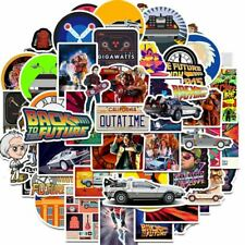 50Pcs Movie Back To The Future Stickers Pack For On The Laptop Fridge Phone Skat