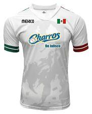 Jersey Mexico Charros de Jalisco 100% Polyester White/Grey_Made in Mexico